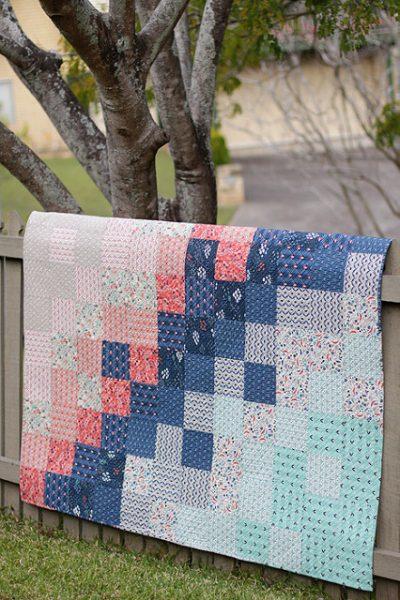 Patchwork Gradient Baby Quilt Pattern