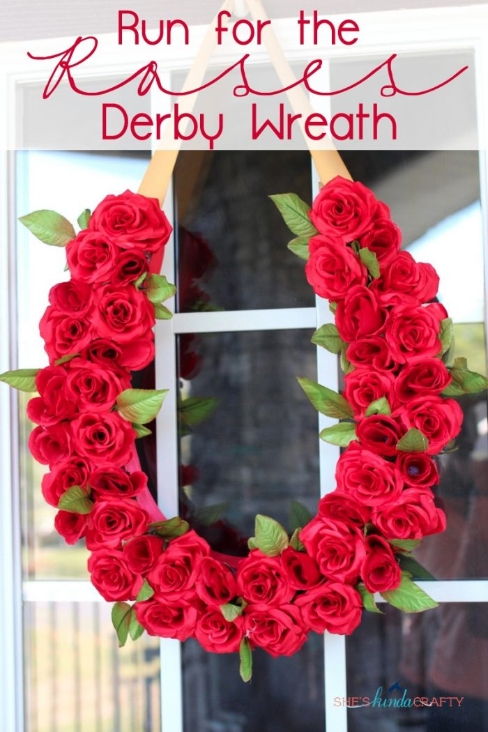 DIY Horse Shoe Run for the Roses Kentucky Derby Wreath