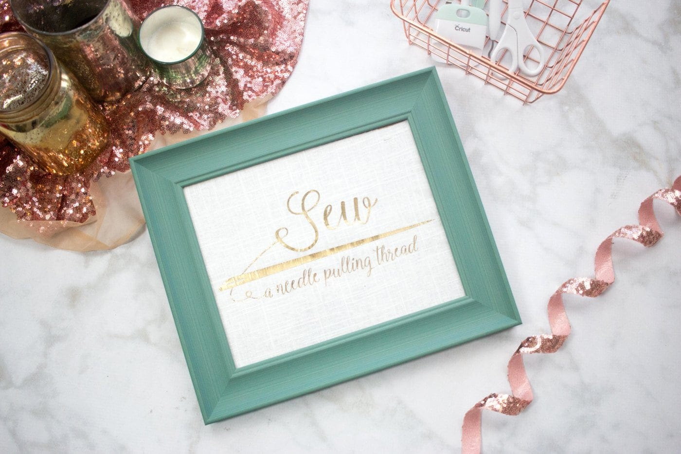 Free Sewing SVG cut file for Cricut Machines- a cute saying for your sewing room decor!