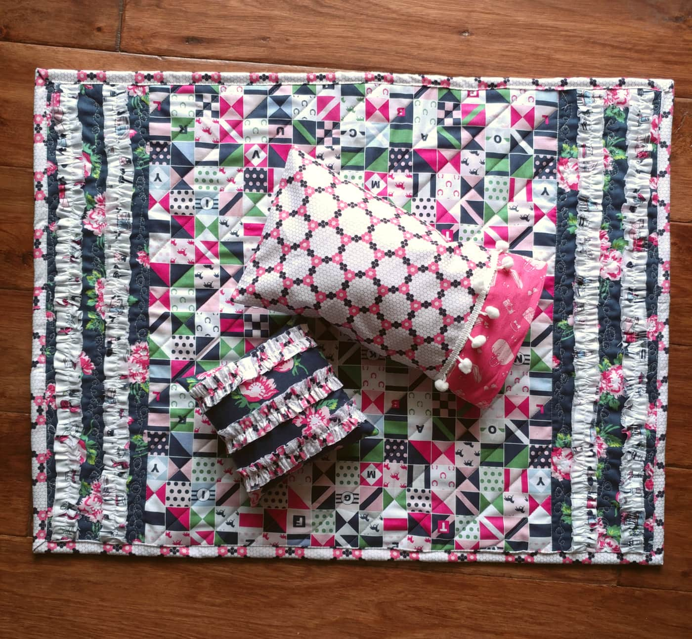 DIY baby doll blanket and pillow tutorial