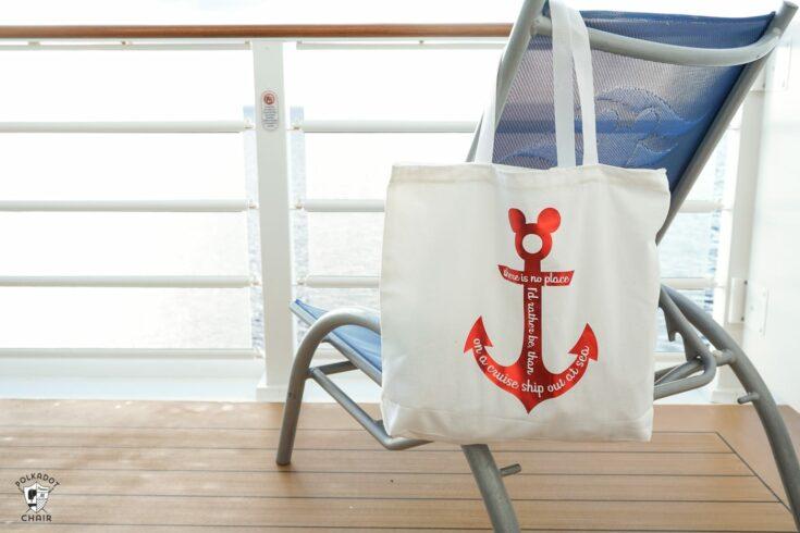 Disney Cruise DIY Tote bags and tees