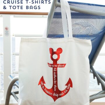 Learn how to make personalized Disney Cruise t shirts for the whole family! Wear matching Disney shirts on your next trip. Includes free SVG files #disneycruise #diydisney #disneycruiseshirts #cricut #cricutmade #freesvgfiles #diytshirt