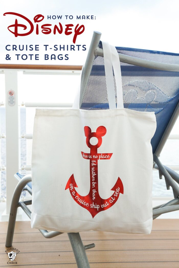 Disney Cruise Tote Bag on Chair