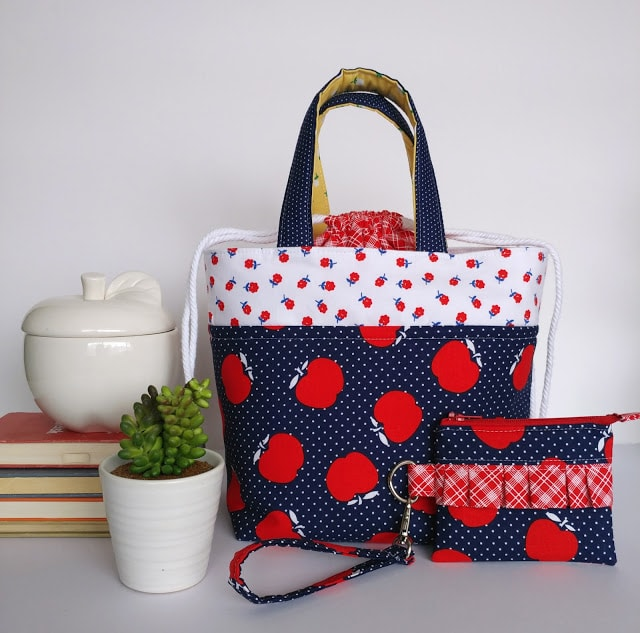 Teacher Appreciation gift idea: how to sew lunch bags