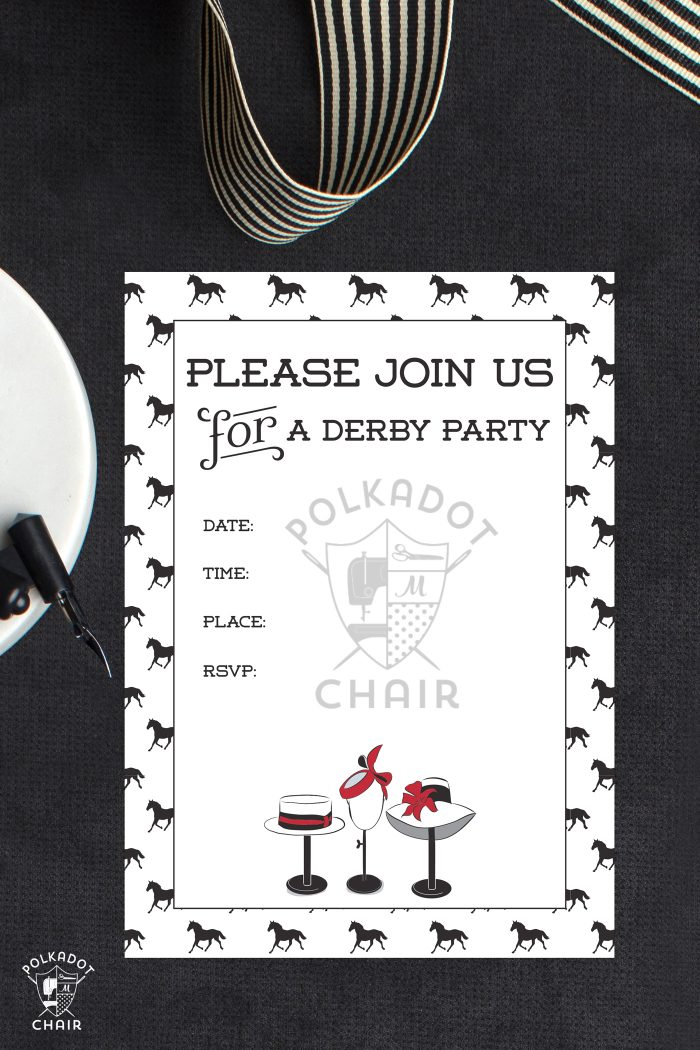 Printable Kentucky Derby Party Invitations