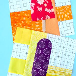 How to make a popsicle quilt block- a fun summer quilt to make. #quilts #quilting #quiltblocks #popsiclequiltblock #summersewing