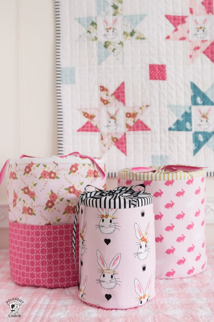 DIY Padded Storage Bins Sewing Pattern
