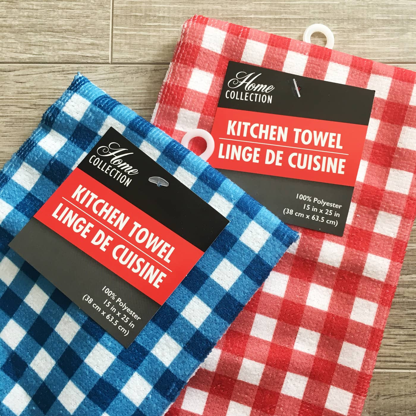 Dish towels used to create kids bbq apron