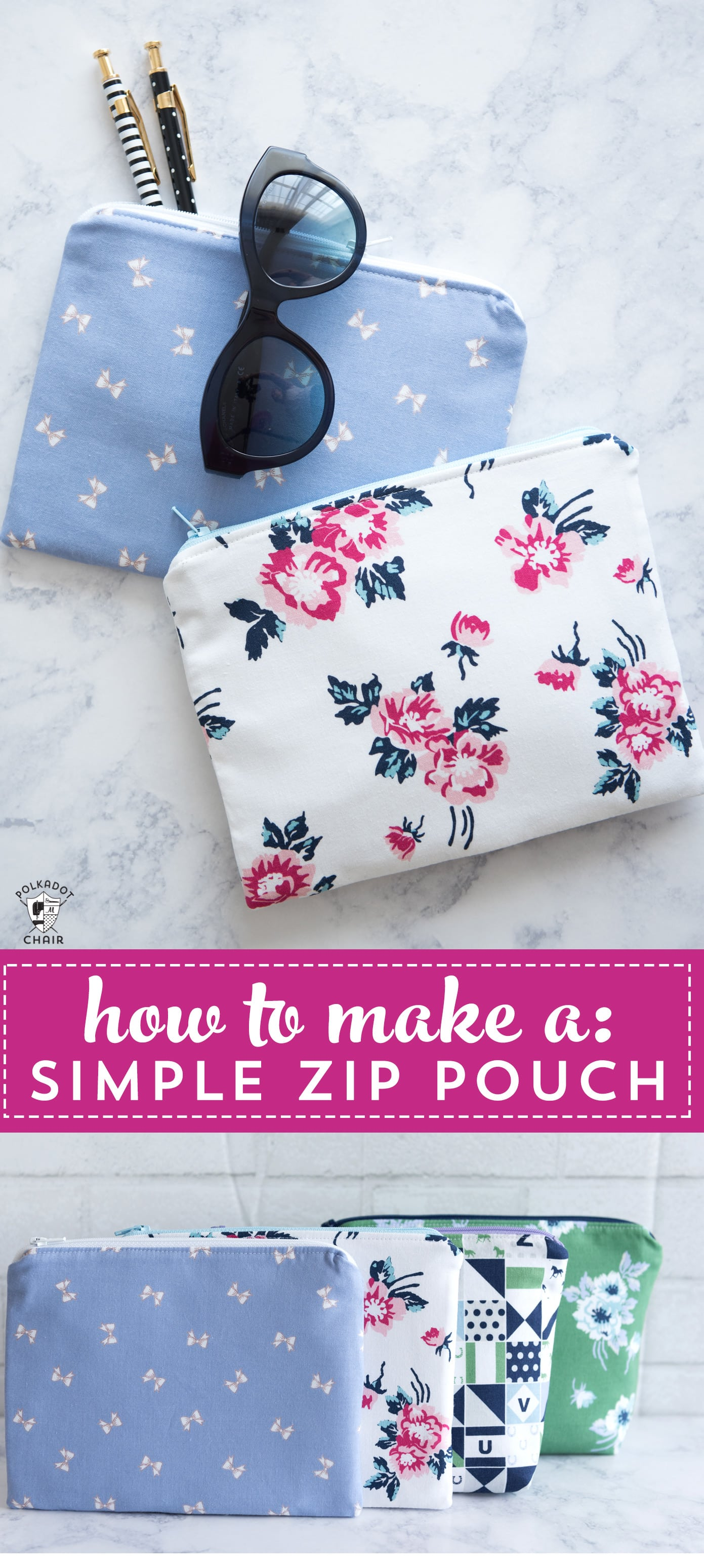 title image for zipper pouch tutorial