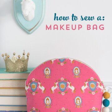 makeup bag on a table