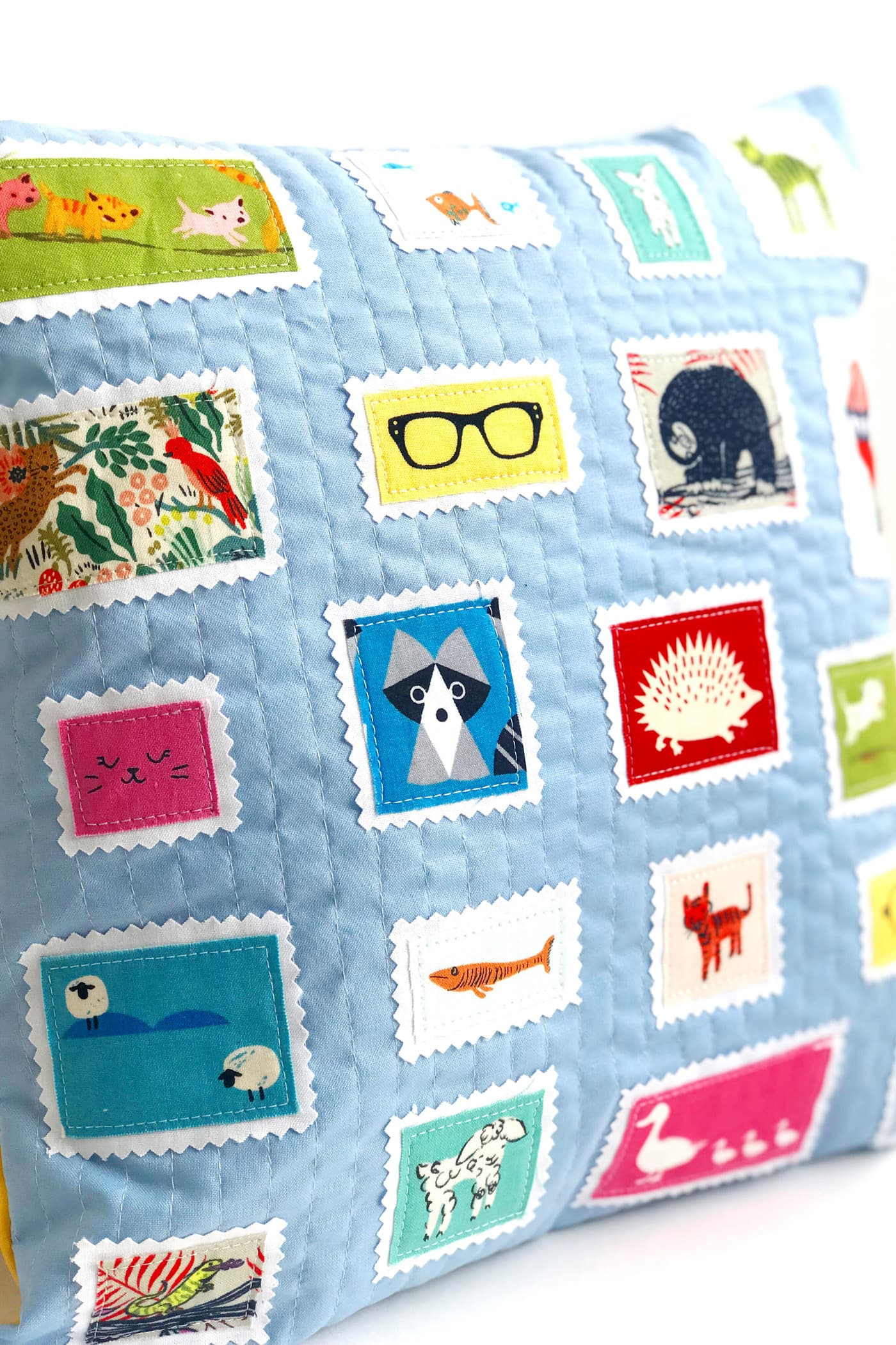Postage Stamp Pillow