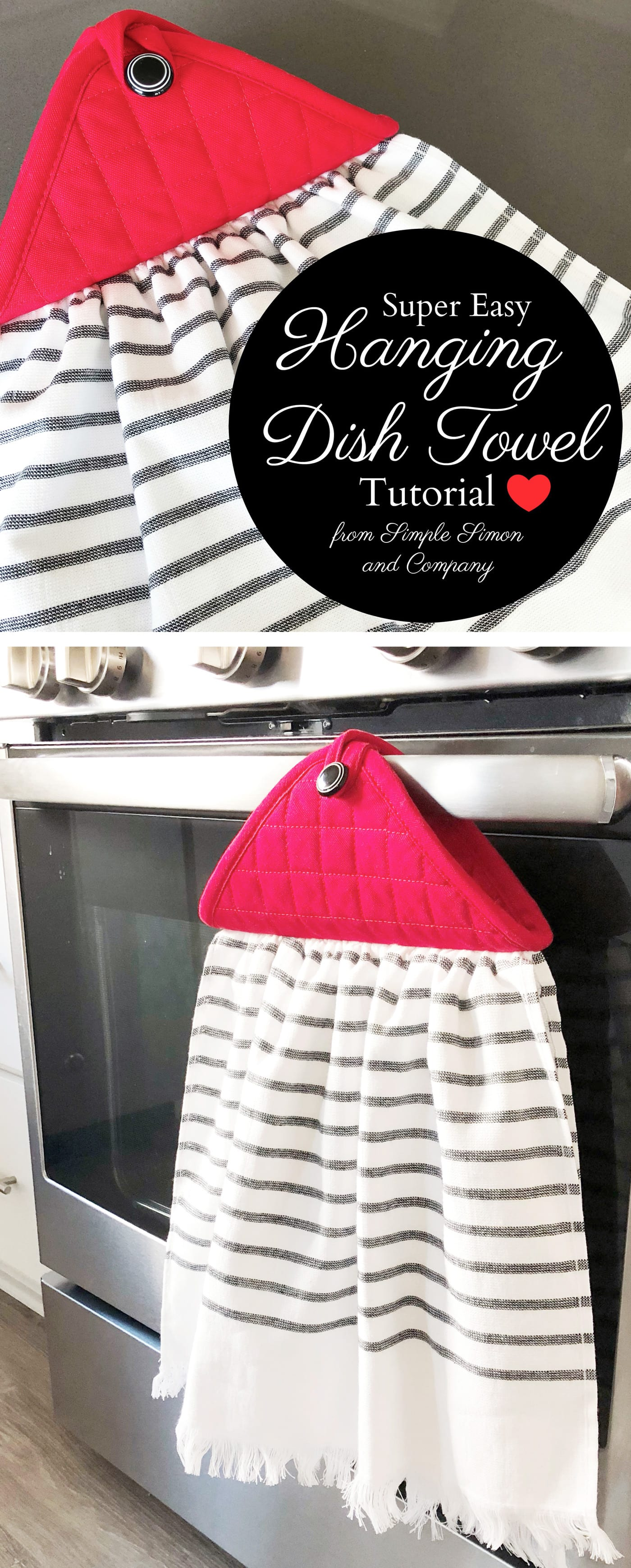 Farmhouse style hanging kitchen dish towel