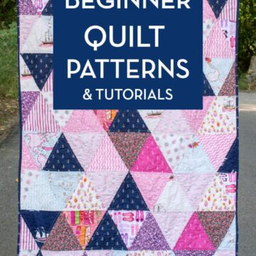 beginner quilt patterns - triangle quilt