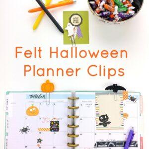 Felt Halloween Planner Clips