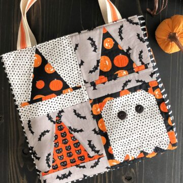 quilt block tote bag tutorial