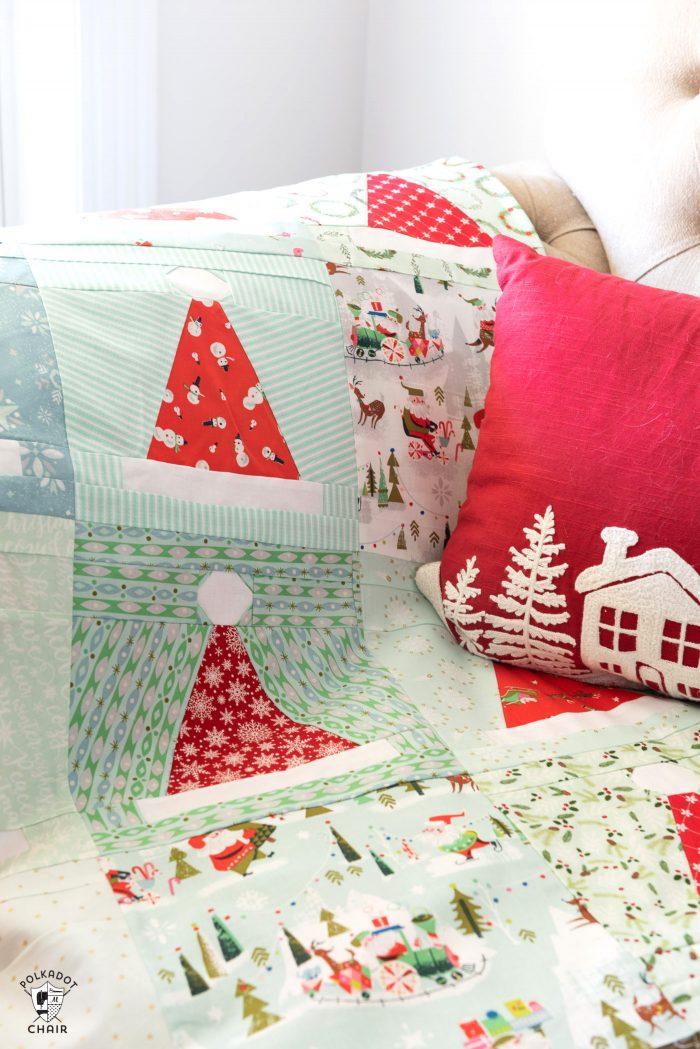 Santa's Hat Shop Christmas Quilt Pattern