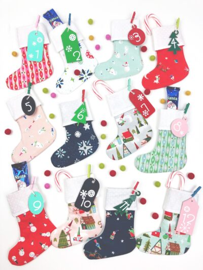 Mini Stocking DIY Advent Calendar
