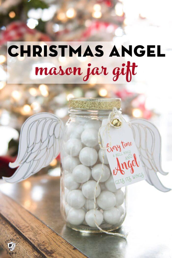Angel Mason Jar gift idea