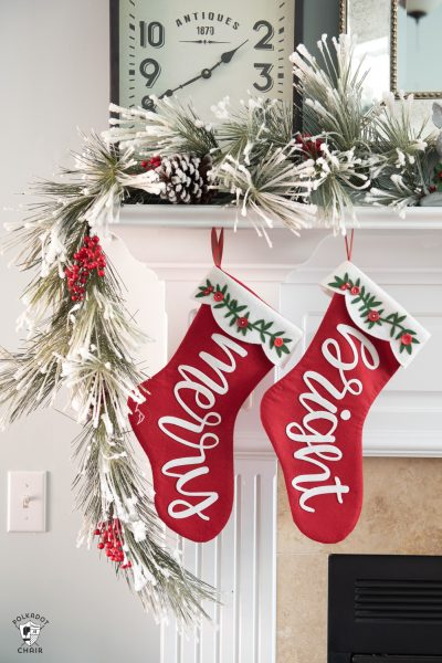 christmas stocking pattern for Cricut Maker