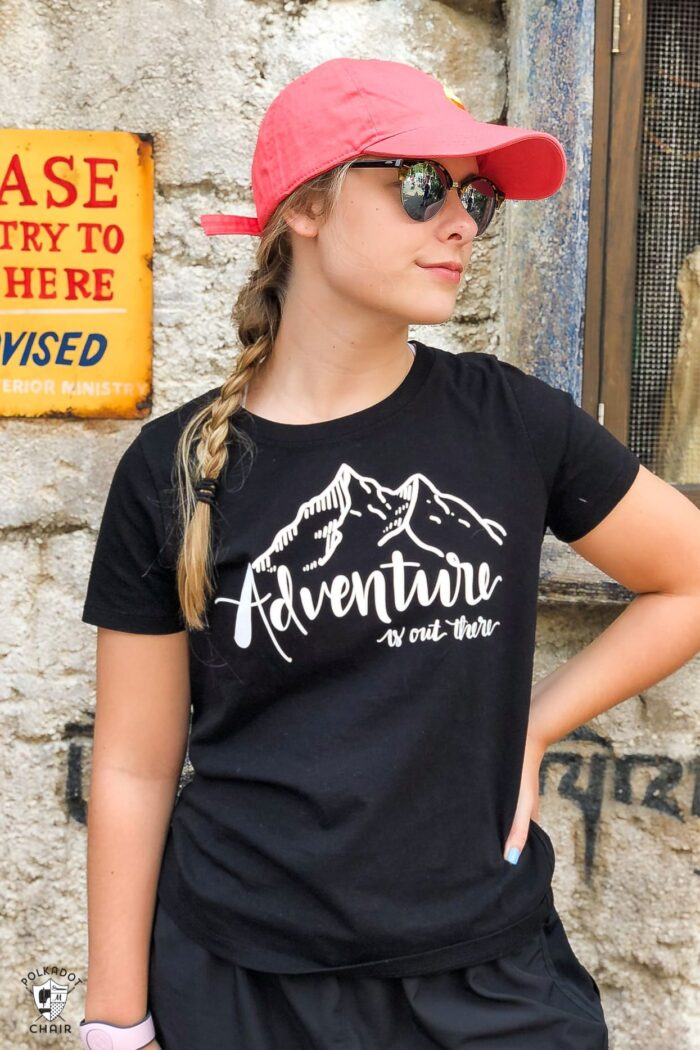 Adventure is out there DIY Disney t-shirt
