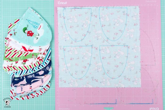 Fabric cut with Cricut Maker