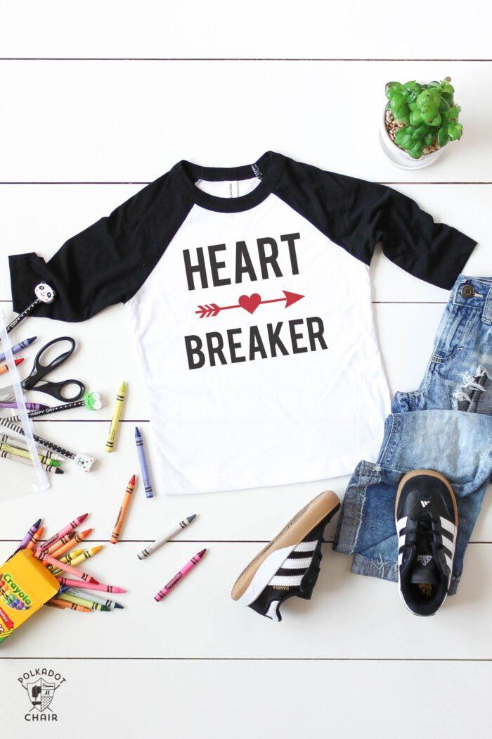 heart breaker svg file for valentine's day