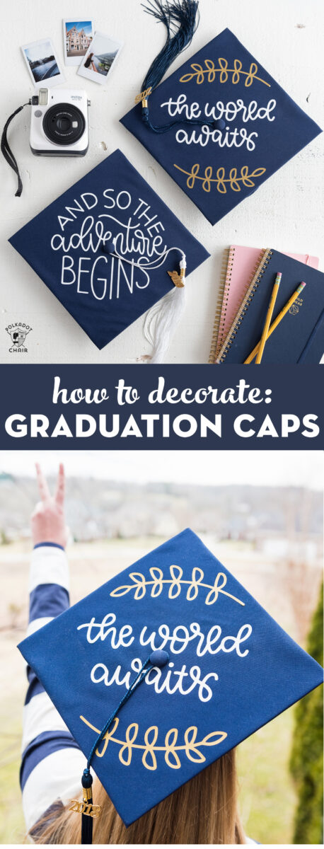 Cute decorated graduation cap