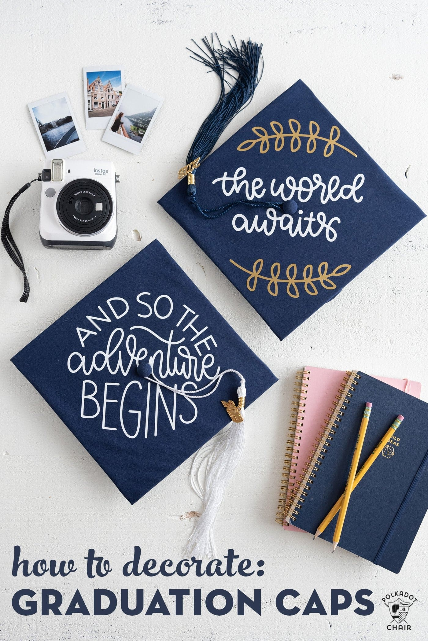 DIY Graduation Cap Decoration Tutorial & Ideas | Polka Dot ...