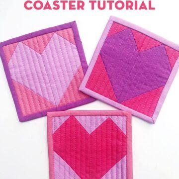Valentine Heart Coaster on white table