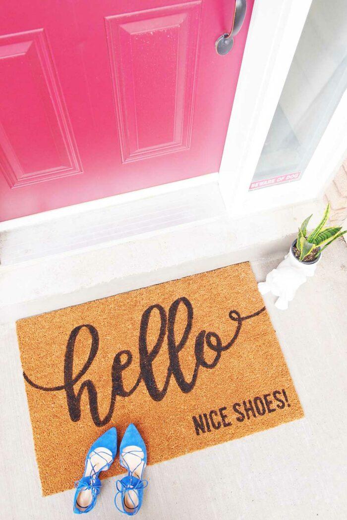 how make a custom doormat
