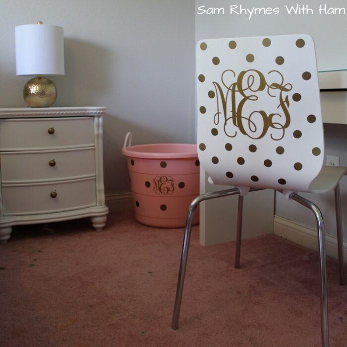 how monogram a chair