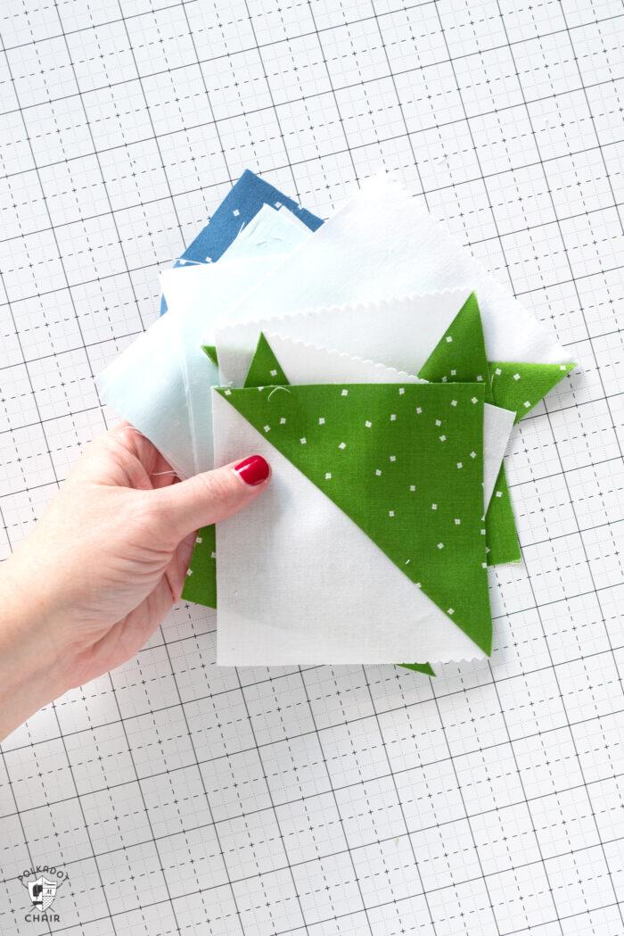 sewn half square triangles