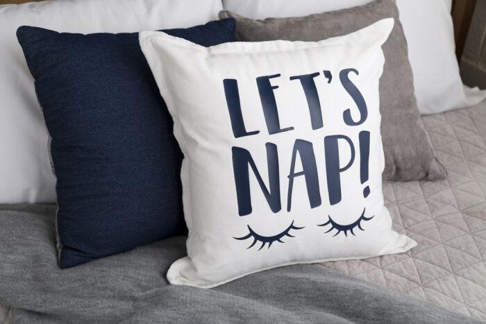 let's nap pillow svg