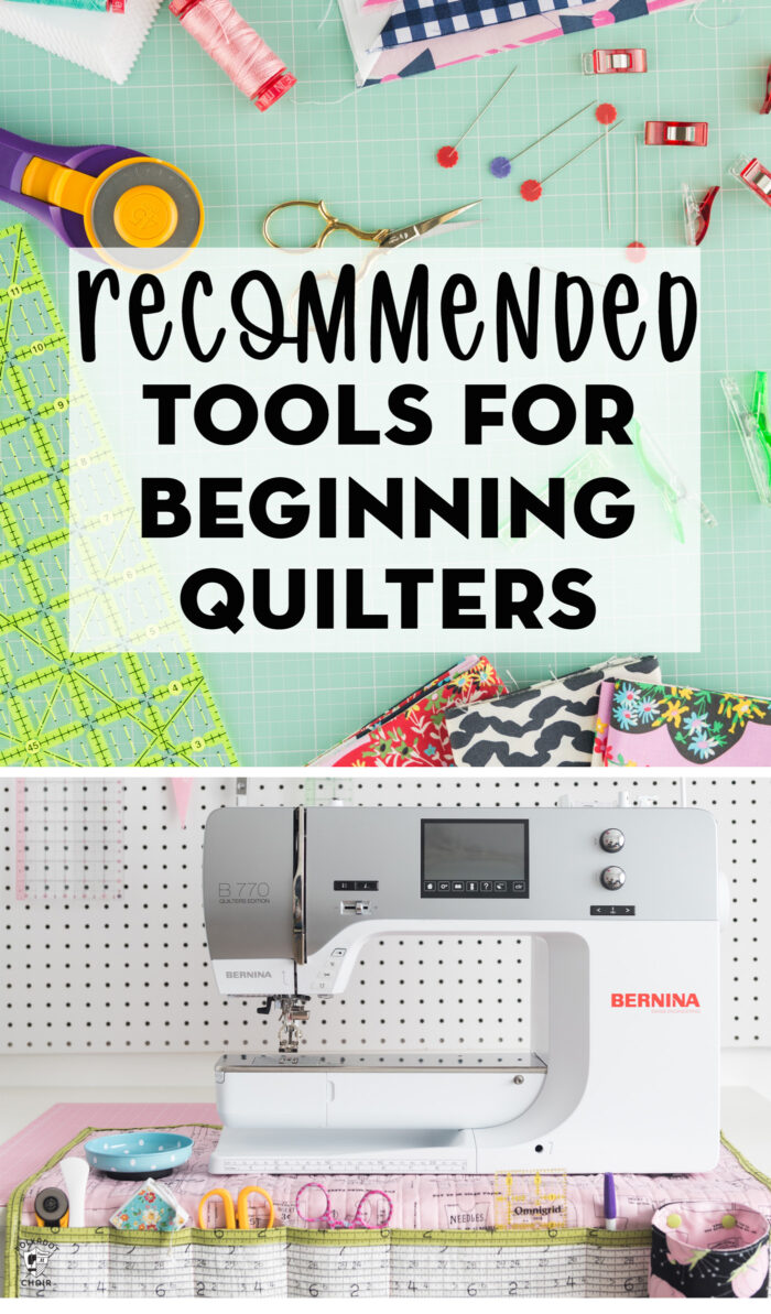Recommended tools for beginning quilters. Just learning how to quilt and wondering where to start? Here are a bunch of supplies we recommend you start with.