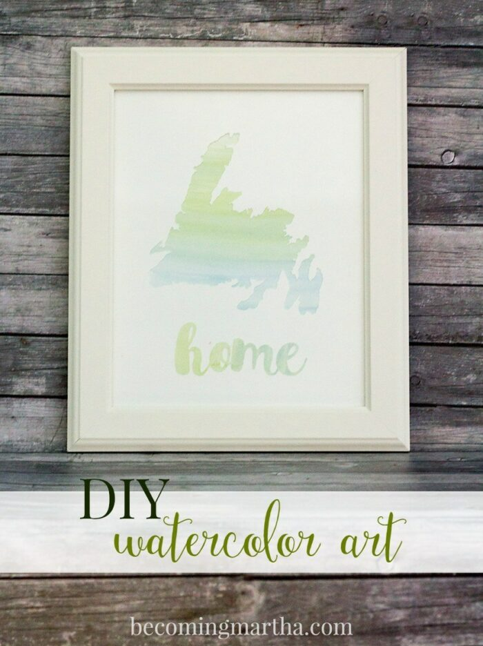 home watercolor art