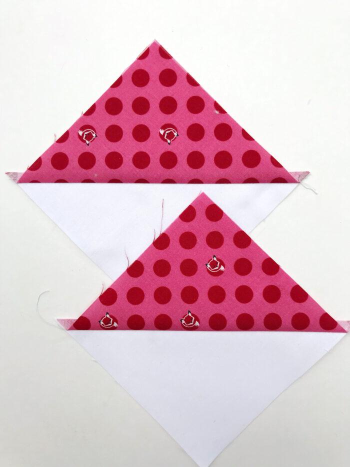 half square triangle construction steps