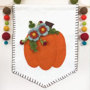 Wool Pumpkin banner on wall