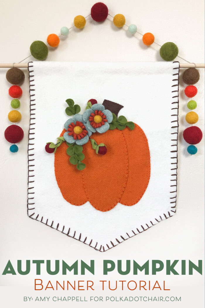 Wool Pumpkin banner on wall