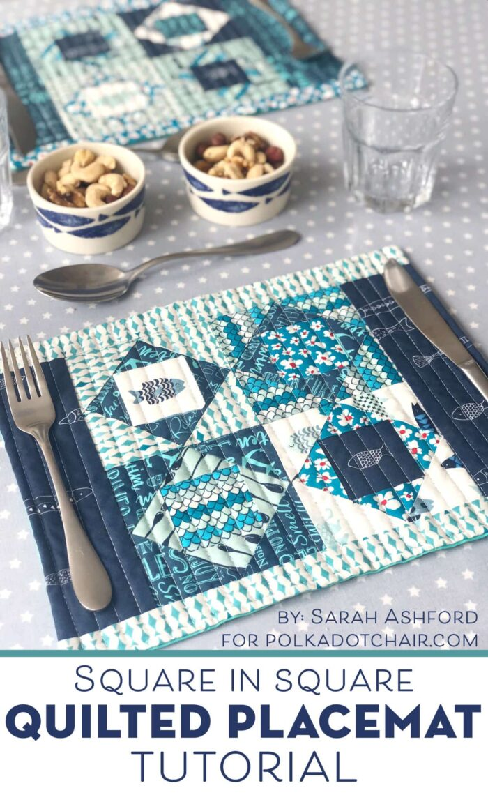 Quilted Placemats on table