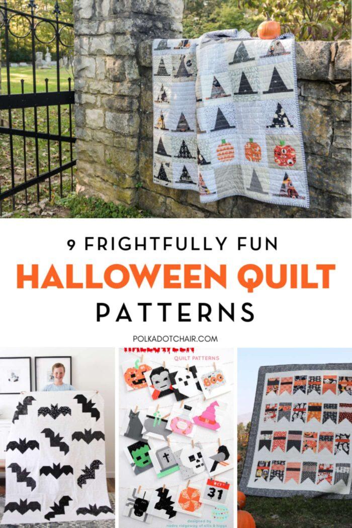 Halloween Quilt Patterns Collage