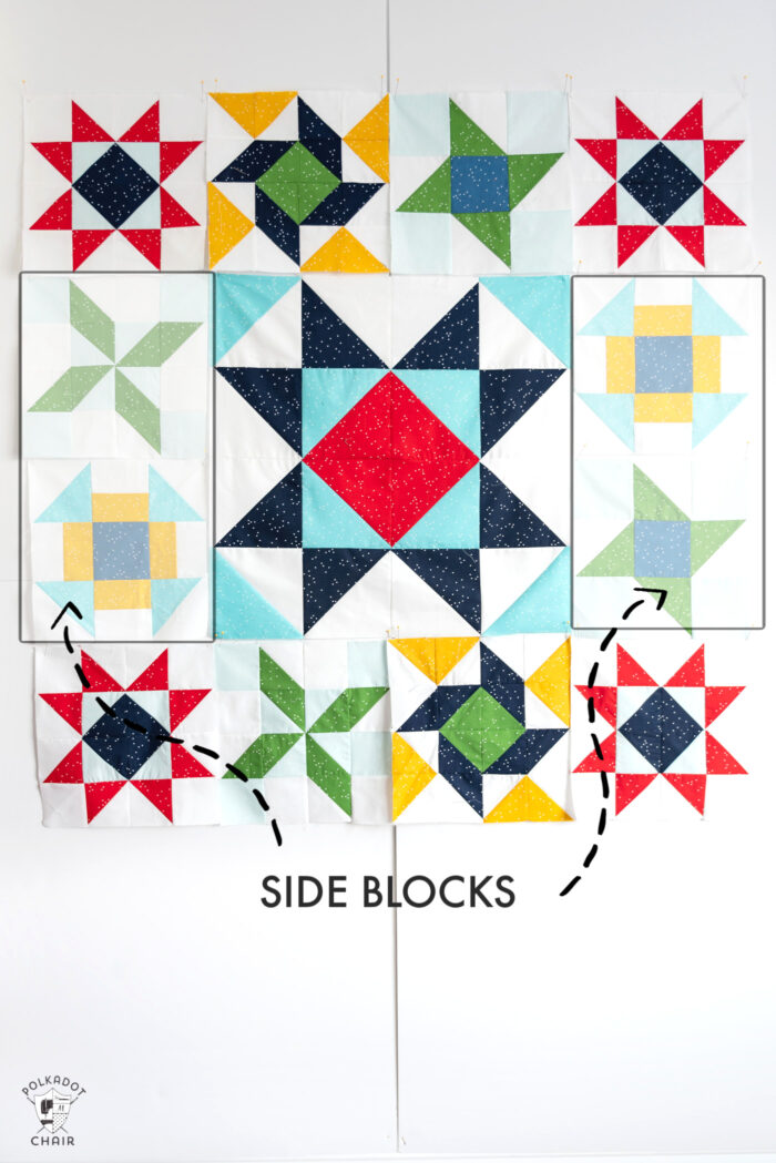 Quilt block assembly diagram