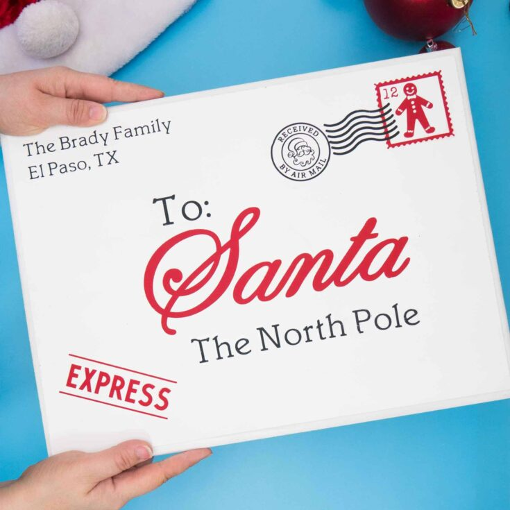 Letter To Santa Wood Sign with Cricut Explore Air 2 - Tried & True Creative