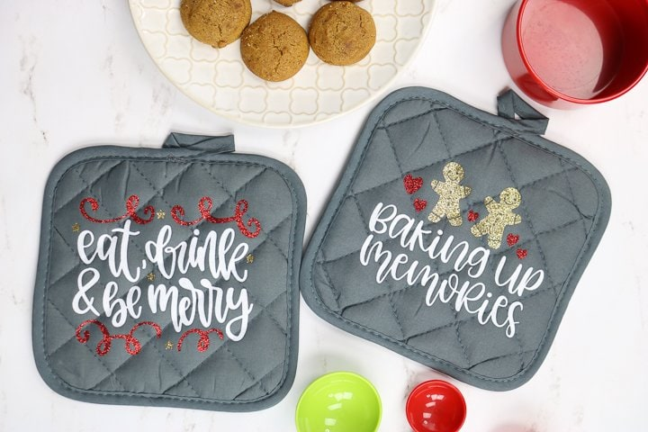 DIY Christmas Potholders with a Cricut