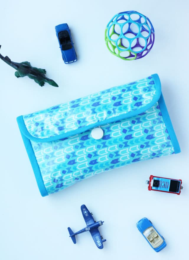 DIY changing pad and diaper clutch for BOYS