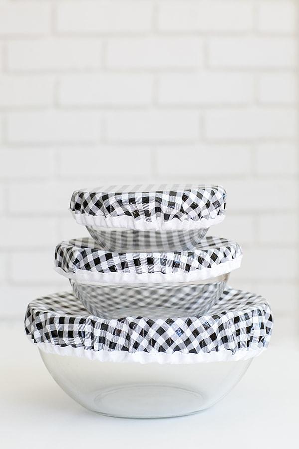 DIY Reusable Oilcloth Bowl Covers