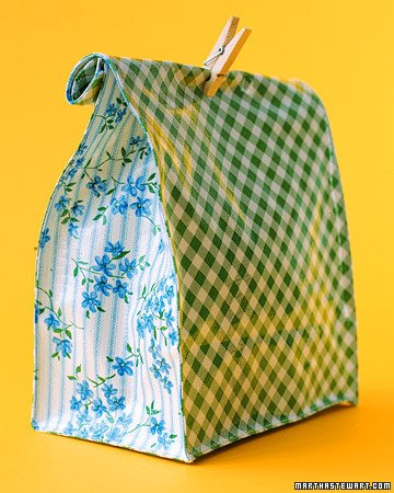 Oilcloth Crafts: Lunch Bags