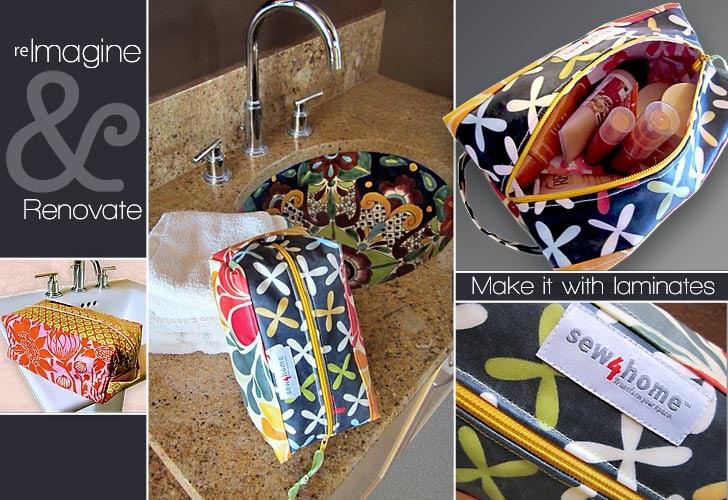 Re-imagine & Renovate: Laminated Toiletry Travel Bag