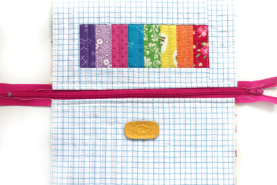 pencil pouch laying flat