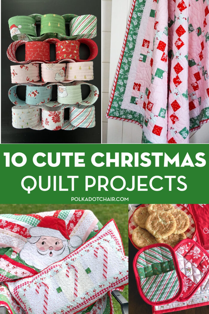 collage of Christmas quilt projects