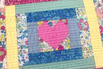 heart placemat closeup